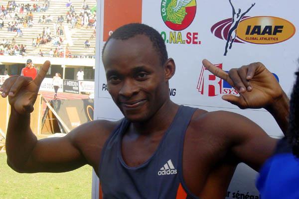 Olusoji Fasuba before his 100m victory in Dakar (Mark Ouma)