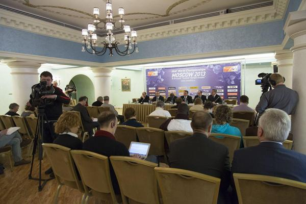 Moscow 2013 Press Conference, 8 April 2013 (Nikolay Kondakov - Moscow 2013 LOC)