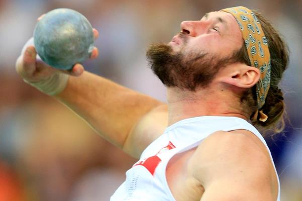 Poland's Tomasz Majewski in action in the Shot (Getty Images)