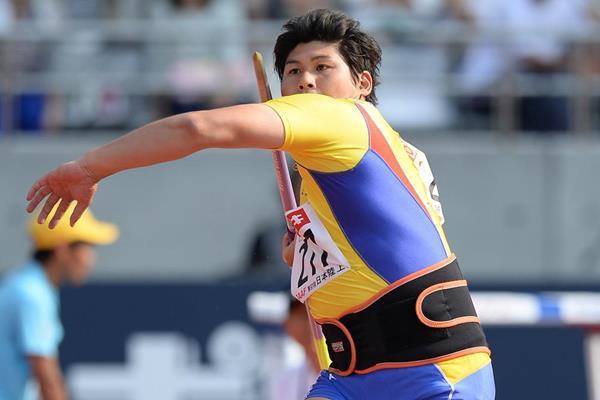 Yukifumi Murakami throws 81.04m to win the Japanese Javelin title (Getty Images)