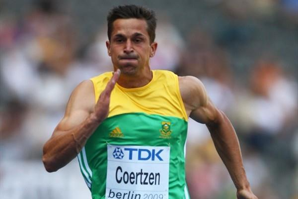 Willem Coertzen of South Africa wins his Decathlon 100m heat in a personal best time of 10.89 at the IAAF World Championships (Getty Images)