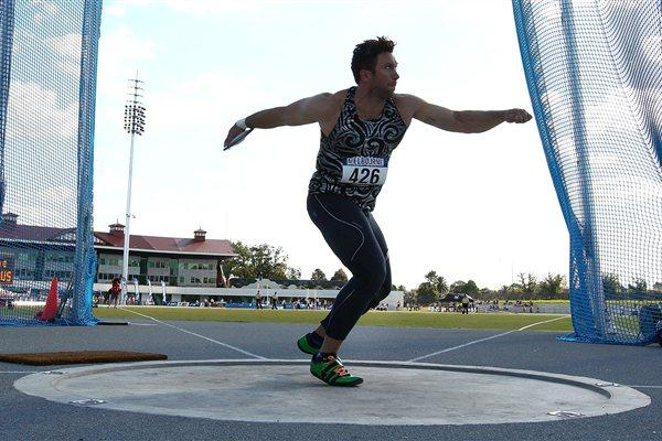 Benn Harradine competing at the 2012 Australian Championships (Getty Images)