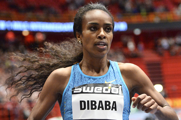 Ethiopia's Genzebe Dibaba in action (AFP / Getty Images)