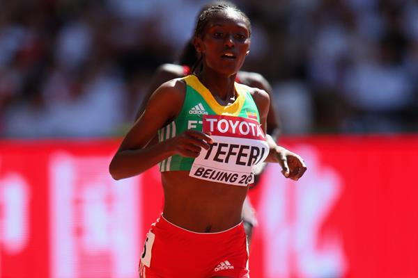 Senbere Teferi in the 5000m at the IAAF World Championships, Beijing 2015 (Getty Images)