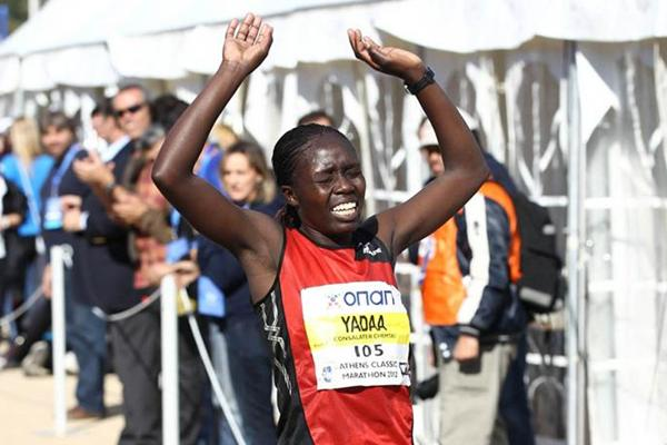 In her debut Consolater Chemtai Yada triumphs at the Athens Marathon (Giancarlo Colombo)