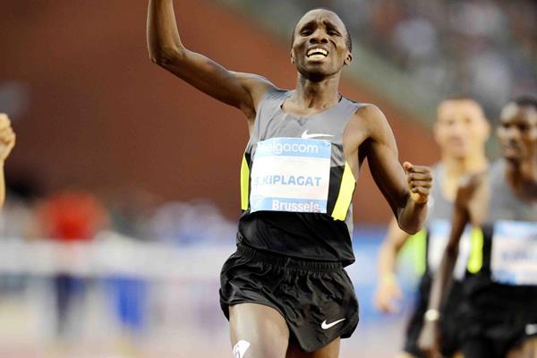 Silas Kiplagat winning the Brussels 1500m (Jiro Mochizuki)