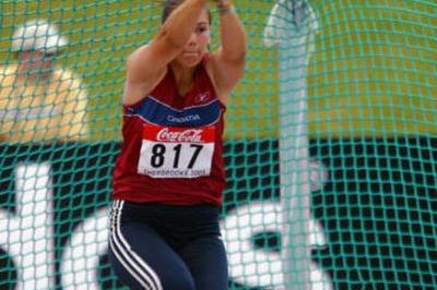 Valentina Srsa of Croatia wins the Hammer Throw (Getty Images)