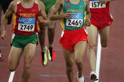 Hicham El Guerrouj (MAR) in the heats of the men's 1500m (Getty Images)
