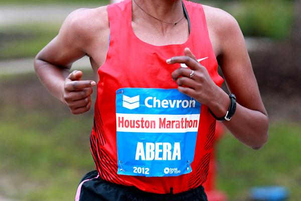 Alemitu Abera lowered the Houston Marathon record to 2:23:14 (Victah Sailer)