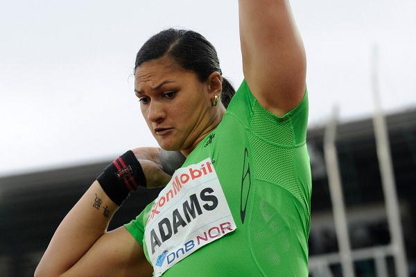 Valerie Adams before unleashing her 20.26m winning heave in Oslo (Hasse Sjögren)