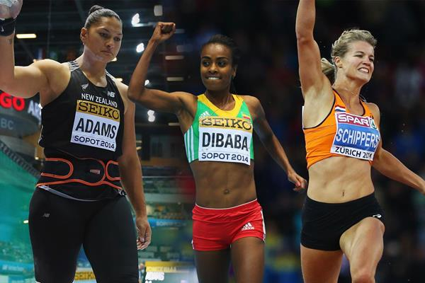 The 2014 IAAF World Athlete of the Year women's finalists (Getty Images)