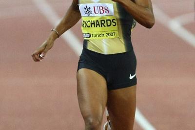 Sanya Richards wins bigs again in Zurich (Bongarts)