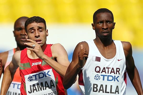Qatar's Musaeb Balla leads the 800m (Getty Images)