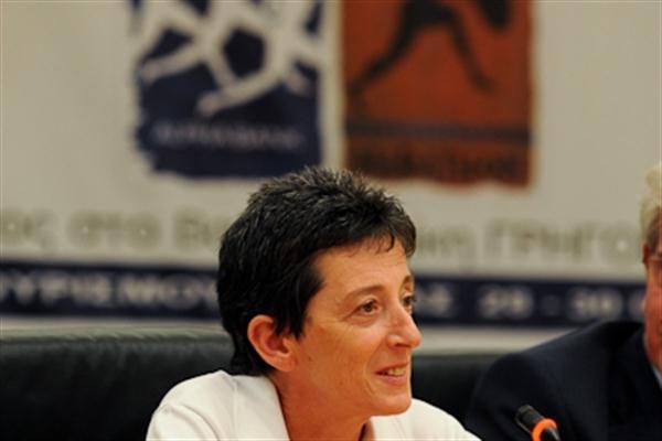 Rosa Mota (POR) - Athens Classic Marathon, 2010 (Bruce Wodder)