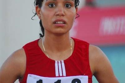 Olfa Hamdi of Tunisia - after her 24:33.27 CR for the 5000m Race Walk (Slim Gomri)