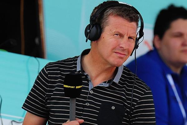 Steve Cram, commentating for the BBC (Getty Images)