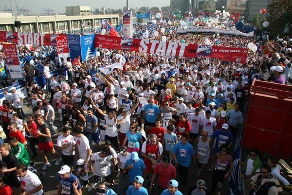 Start of the 2007 Blom Beirut Marathon (Rima Nehme)