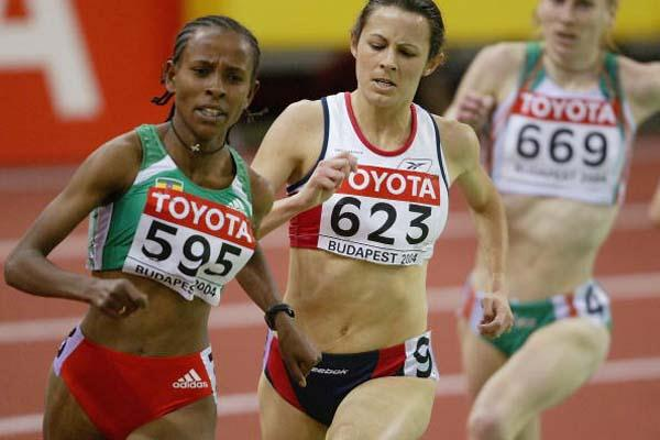 Meseret Defar (ETH) in action in the women's 3000m heats (Getty Images)
