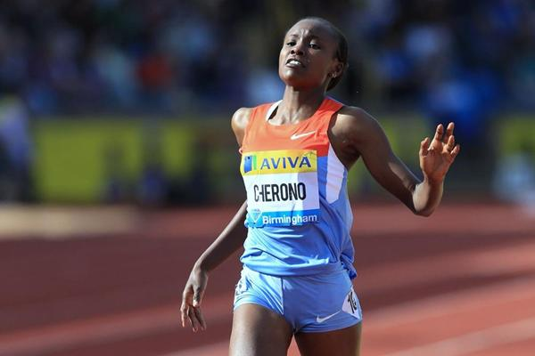 Mercy Cherono defeats Vivian Cheruiyot by just 0.01 in the Birmingham 3000m (Jean-Pierre Durand)