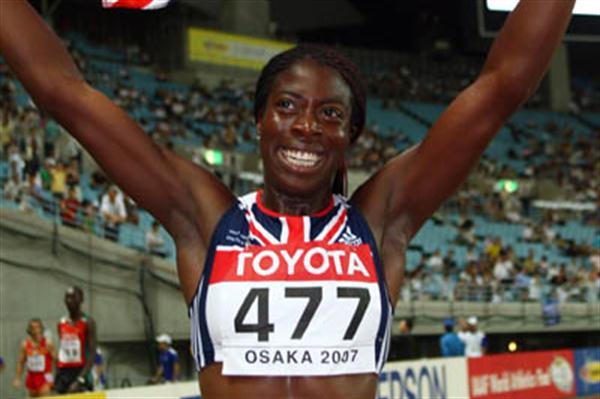 Christine Ohuruogu celebrates winning 400m gold (Getty Images)