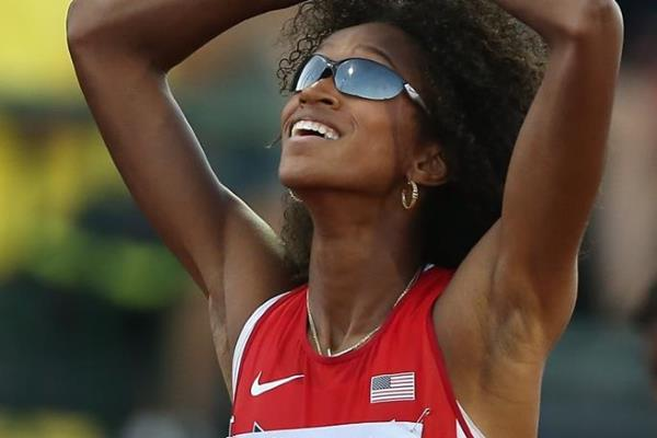 400m winner Kendall Baisden at the IAAF World Junior Championships, Oregon 2014 (Getty Images)
