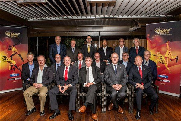 Founding Member Federations of the IAAF at Commemorative Dinner at Fairmont Hotel, Monte-Carlo, 16 July 2012 (Philippe Fitte)