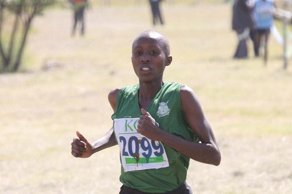 Eunice Kioko winning at the 2013 Athletics Kenya Prisons Cross Country Championships  (Stafford Ondego - The Standard)