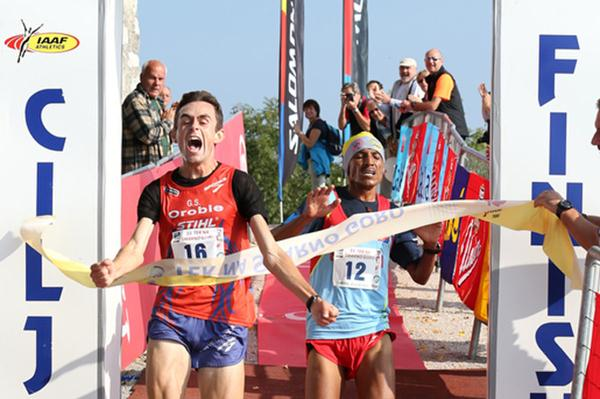 Alex Baldaccini edges Teklay Azerya to win the Smarna Gora mountain run (Organisers)