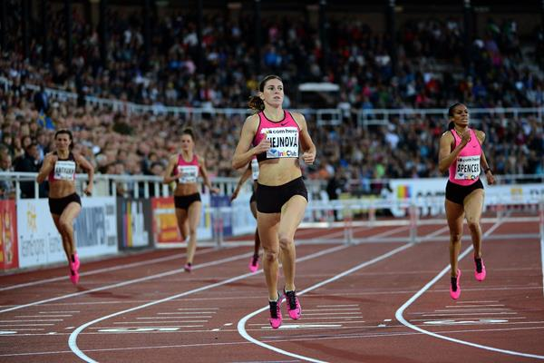 Zuzana Hejnova wins at the 2013 IAAF Diamond League meeting in Stockholm (Anders and Hasse Sjogren)