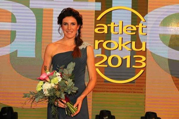 Zuzana Hejnova after winning the 2013 Czech Athlete of The Year (Aleš Gräf)