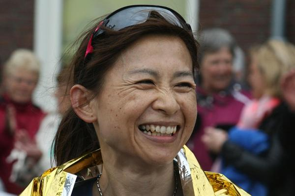 Japan's Mami Kudo after winning the 2013 IAU 24 Hour World Championships  (IAU)