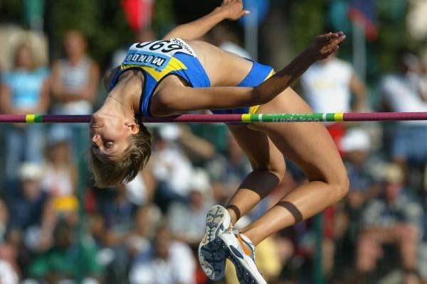 Iryna Kovalenko of Ukraine wins the Women's High Jump Final (Getty Images)