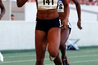 Sanya Richards equals her world season lead in the 400m - 49.27 (Getty Images)
