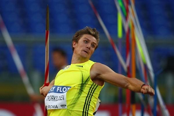 Andreas Thorkildsen pulled out a last-round 87.46m throw to win the javelin, ending Tero Pitkamaki's run of Golden League victories (Getty Images)