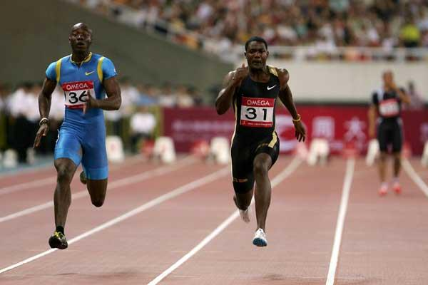 Justin Gatlin winning in Shanghai (Getty Images)
