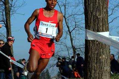Bekele in full flow in the 2004 Campaccio race (Lorenzo Sampaolo)
