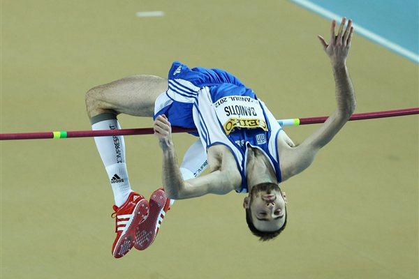 Konstandinos Baniotis of Greece competes in the Men's High Jump qualification during day two - WIC Istanbul (Getty Images)