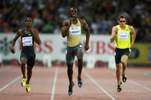 LaShawn Merritt wins the 400m in Zurich (Getty Images)
