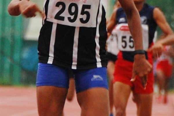 Tintu Luka takes an impressive 400/800m double at the 2010 Indian national championships (Organisers)