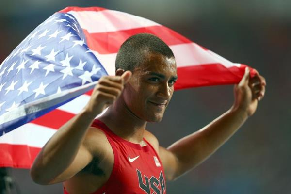 Ashton Eaton in the mens Decathlon at the IAAF World Athletics Championships Moscow 2013 (Getty Images)