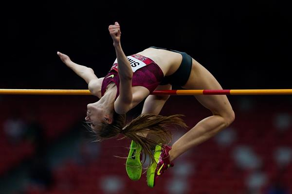 Ana Simic wins the high jump in Beijing (Getty Images)