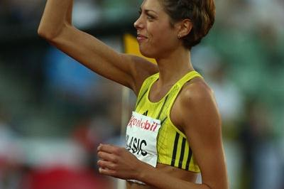 Blanka Vlasic celebrates a 2m victory in the high jump (Getty Images)