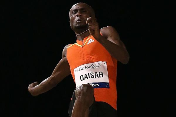 Ignisious Gaisah in action in the long jump (Getty Images)