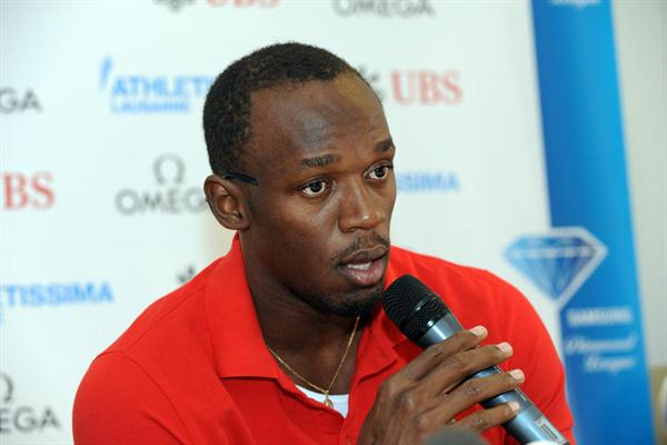 Usain Bolt in Lausanne (ATHLETISSIMA/Denis Roulet)