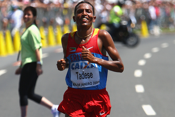 Zersenay Tadese wins the World Half Marathon Championships for the third year in a row (Getty Images)