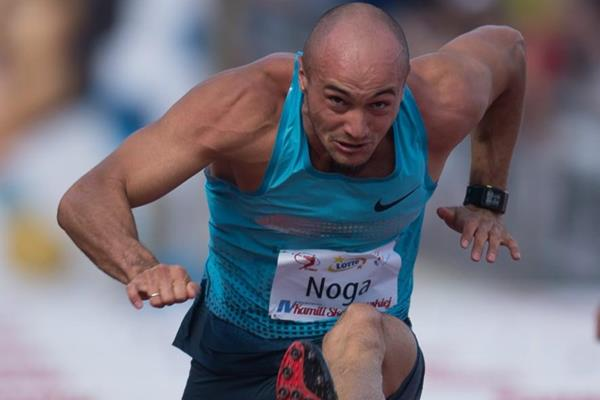 Artur Noga on his way to a national record in Warsaw (Marek Biczyk)