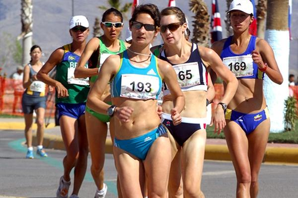 Ines Henriques en route to a successful title defence in the Chihuahua 20Km (Chihuahua organisers)