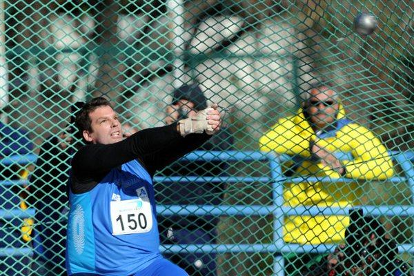 Juan Ignacio Cerra wins his ninth South American Hammer Throw title in Buenos Aires (Eduardo Biscayart)