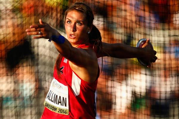 US discus thrower Valarie Allman at the IAAF World Junior Championships, Oregon 2014 (Getty Images)
