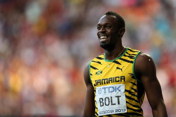 Usain Bolt in the mens 200m at the IAAF World Athletics Championships Moscow 2013 (Getty Images)
